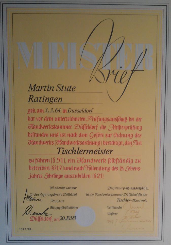 Tischlerei Düsseldorf martin stute tischlermeister